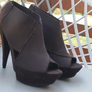 Jessica Simpson elastic strap platform heels